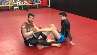 Straight Ankle Lock And Counter Against Common Escape
