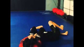 Single leg defense with flying armlock