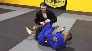 Attacking the Toe Hold from the Top of Half Guard