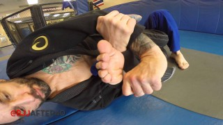 Lapel Toe-hold (foot-lock with a gi)