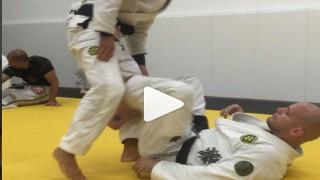 Xande Ribeiro working on his Sweeps with Rodrigo Pagani