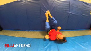 Grappling Warm-ups using a wall