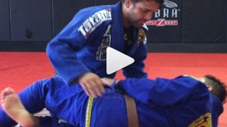 Baseball Choke with setup from Half Guard- Robson Moura
