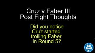 Cruz v Faber Post Fight – BJJ Scout