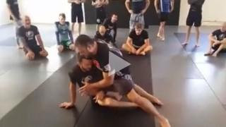 A back take off a knee slice pass – Tom DeBlass