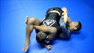 Escape from side control with a inverted triangle choke