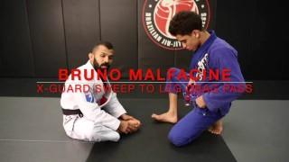 Bruno Malfacine: X-Guard Sweep to a Leg Drag Pass