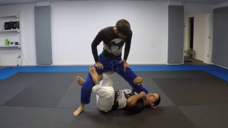 Finishing the x-guard sweep – Nelson Puentes