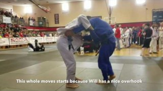 Ankle pick into Juji gatame by William Schrimsher