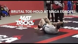 Dean Lister Brown Belt Finishes a Brutal Leglock at NAGA Europe