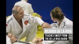 Ricardo de la Riva teaches sweep from the De la Riva guard