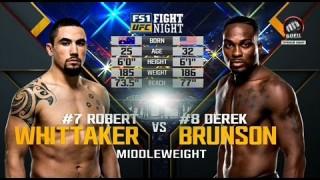 Robert Whittaker vs. Derek Brunson – UFC Fight Night 101