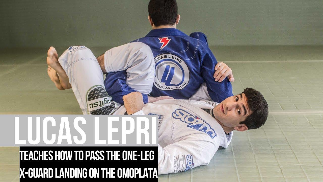 Lucas Lepri teaches how to pass the one leg X guard landing on the omoplata