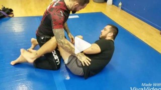 Half guard sweep to kimura attacking the far arm – Tom DeBlass