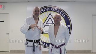BJJ Black Belt's Defense to Donald Trump's Armdrag Handshake