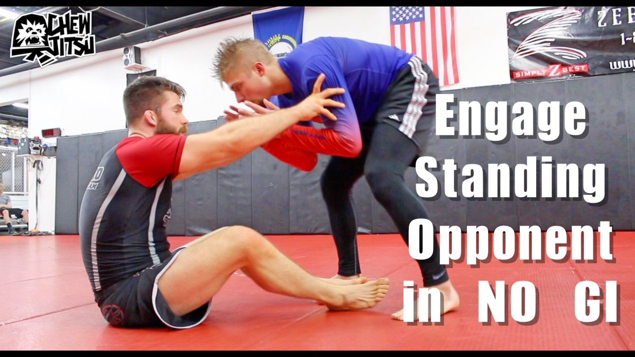 Engage Standing Opponent In No Gi BJJ ( Sweep / Leglock Entry ) – Nick Albin