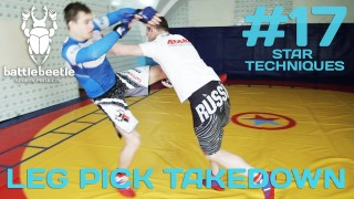 2-time European Sambo champion Shows Leg Pick Takedown