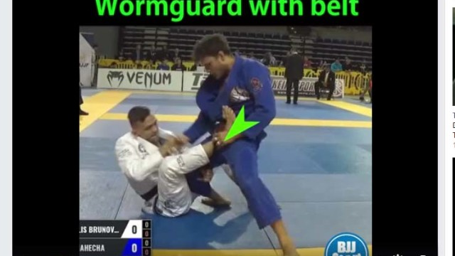 BJJ Scout –  Andris Brunovskis at Pans 2017 with Worm Guard Modification