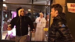 Aggressive Chicago Beggar runs into Clark Gracie!