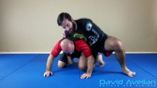 Rolling Knee Bar From The Back Trap – David Avellan