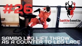 Sambo Leg Lift Throw As a Counter To Leg Lace – Kirill Sementsov