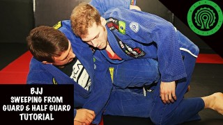 Sweeping from Guard and Half Guard – Stuart Tomlinson
