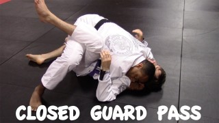 CLOSED GUARD PASS: Frogger Pass and Arm Bar -Ricardo Tubbs