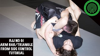 Easy Arm Bar to Triangle from Side Control – Ashleigh Grimshaw