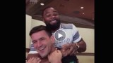Woodley Backpacking on Demian Maia