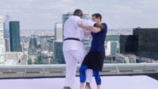 Teddy Riner Gives Andy Murray A Judo Lesson