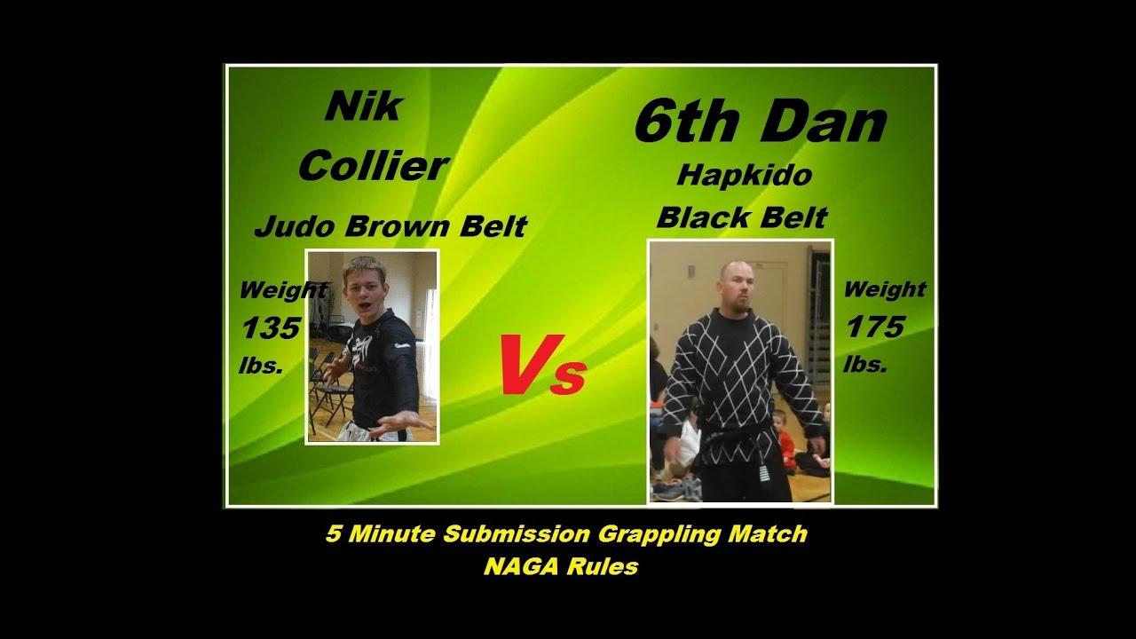 Bjj Blue Belt (135 lbs) vs 6th Degree Hapkido Black Belt (175 lbs)