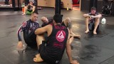 Braulio Estima drilling ankle locks with Rafael Lovate Jr and Xande Ribeiro SHOW MORE