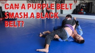 Can a 29 year-old Jiu Jitsu Purple Belt Smash an Old Man Black Belt??