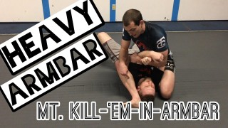 How to finish the HEAVIEST arm bar from mount BJJ  – Ben Egli