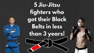 5 Jiu Jitsu Fighters Who Got Their Black Belts in less Than 3 years