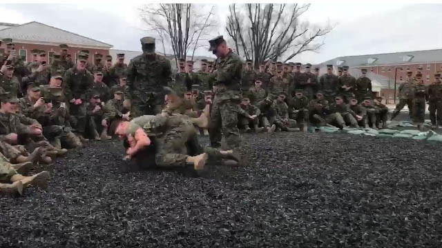 Incredibly Intense Marine Sparring Session