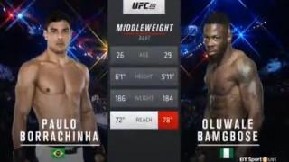 Paulo Borrachinha has a 2 round Struggle with Bamgbose