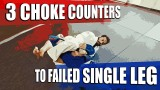 3 Chokes To Counter The Single Leg Takedown