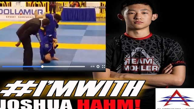 BJJ Competitor Joshua Hahm Lifted and Injured By Opponent Jump Escaping Triangle
