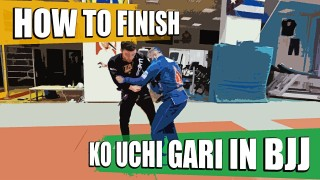 How to Finish Ko Uchi Gari (Foot Sweep) in BJJ