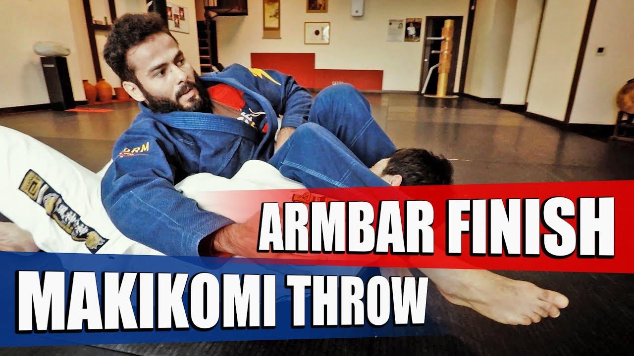 Makikomi judo throw + Armbar from Side Control