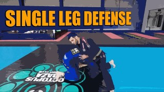 Single Leg Takedown Defense in Brazilian Jiu-Jitsu