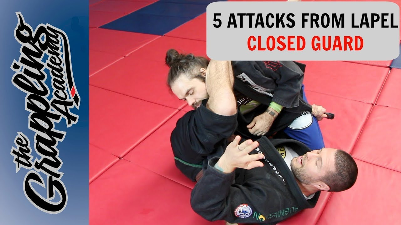 5 Attacks From Lapel Closed Guard – Tom Davey