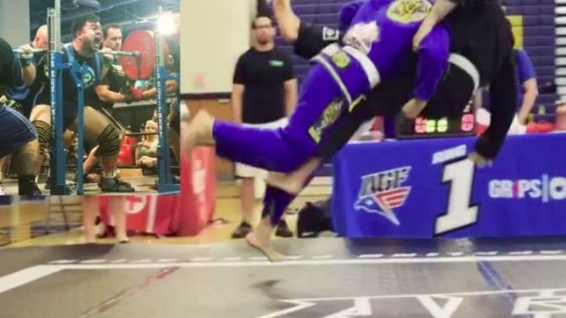 BJJ White Belt with Wrestling & Powerlifting Backgrounds Wipes Out Competition