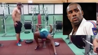 Judo World Champ Teddy Riner Bench Presses 230kgs Wearing Flip Flops