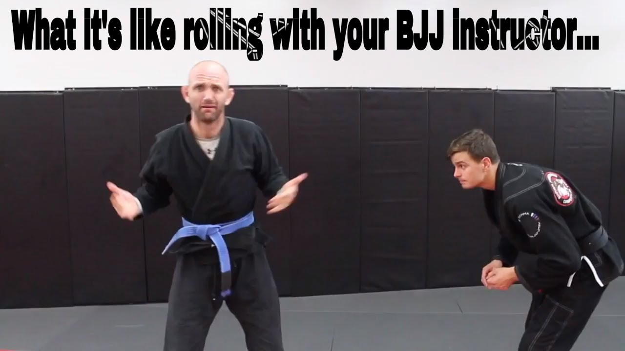 What it's like rolling with your BJJ Instructor…