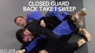 Closed Guard Back Take and Sweep – Diogo Fregonese
