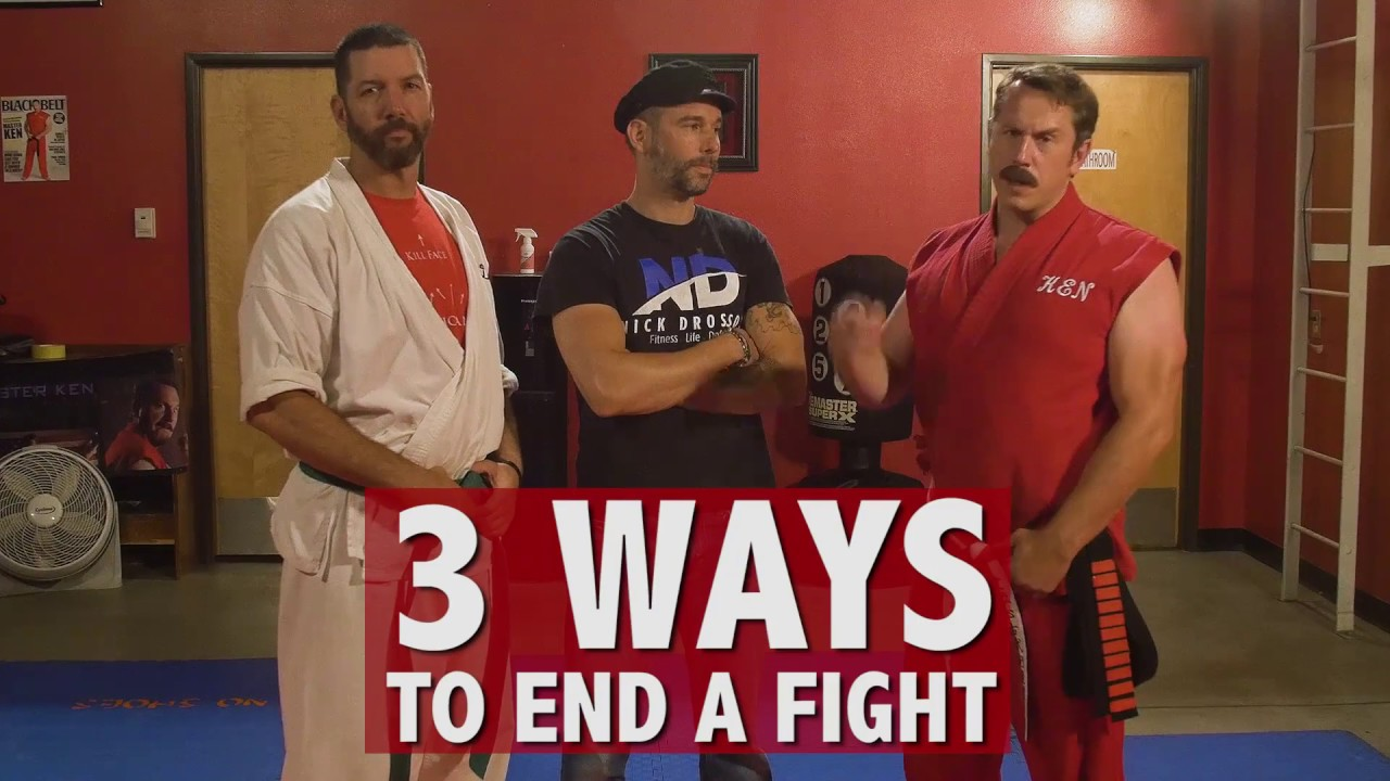 [Comedic] 3 Ways to End a Street Fight – Master Ken
