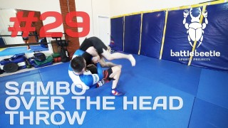 Single Leg takedown counters with Sambo Over the Head throw – Kirill Sementsov