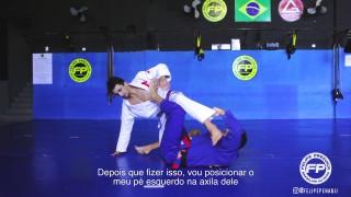 Inverted De la Riva to Knee bar – Felipe Pena